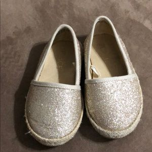 Children's Place Gold glitter espadrilles